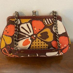 Isabella Fiore Retro Floral Handbag Chain Strap